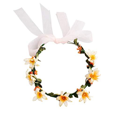 Beaupretty Fleur Bandeau Matin Gloire Couronne Couronne Rotin Bandeau Bandeau pour la mariée Filles Femmes Mariage Fête d'anniversaire Plage Vacances Cheveux Accessoires