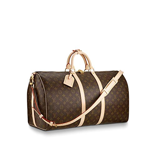 Louis Vuitton Monogram Keepall Bandouliere Travel Bag (Keepall 55)