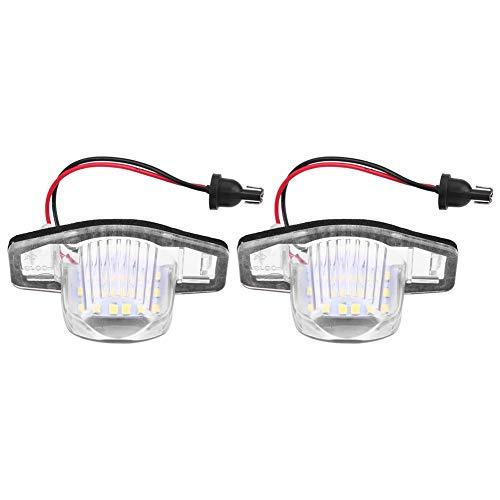 Kimiss - 2 bombillas LED de 12 V y 18 bombillas para matrícula LED CRV Jazz FR-V