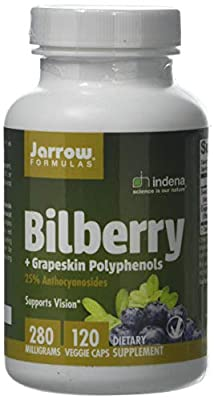 Jarrow Bilberry & Grapeskin Polyphenols (280mg, 120 Vegan Capsules) by Jarrow FORMULAS