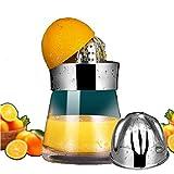 JYG 304 Edelstahl manueller Entsafter Zitrone Clip großer Saftpresse Baby Entsafter Küchenbedarf, 700ml große Kapazität 6 Row Quetschen Zähne Gesundheit und Umweltschutz