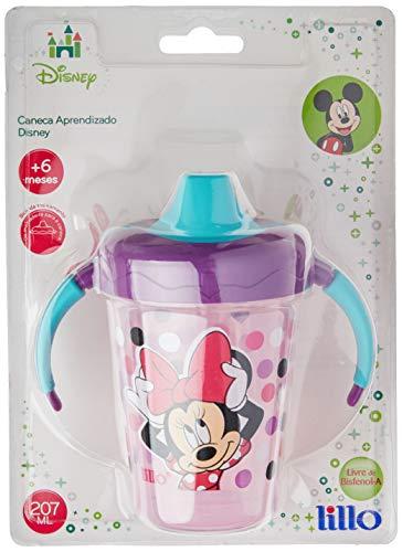 Caneca Antivazamento Aprendizado Disney - Lillo, Lilás, 207 ml