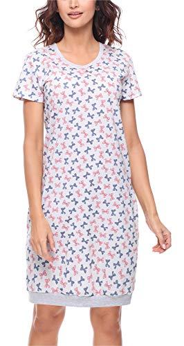 Merry Style Camisón Lencería Sexy Ropa de Cama Mujer MS10-184 (Mélange Lazos, XXL)