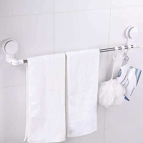 Handtuchstange aus Edelstahl,Badetuchstange/Saugnapf/Einzelmast/Einfache Handtuchstange/Bohrerfrei/Bad/Hotel/Küche/Balkon
