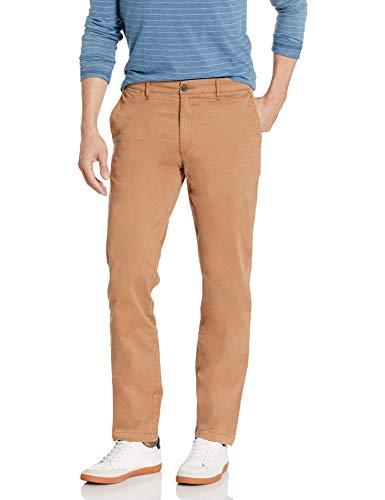 Marca Amazon – Goodthreads – «El pantalón chino perfecto»; pantalón chino de corte entallado, lavado, cómodo y elástico para hombre, caqui, 32W / 30L