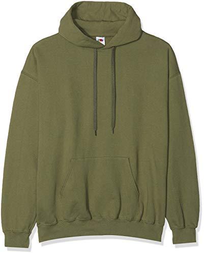 Unbekannt Hooded, Herren Sweatshirt Gr. S, Vert (Verde aceituna)