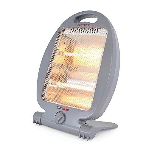 STAYWARM 800w 2 Bar Quartz Heater with 2 Heat Settings/Safety Tip-Over...