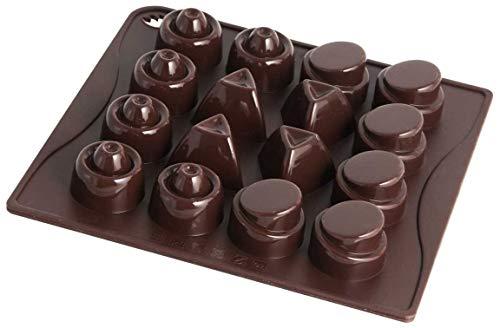 Dr. Oetker 2467 Classic Moule Silicone pour Chocolat Silicone Marron 18 x 17 x 5 cm