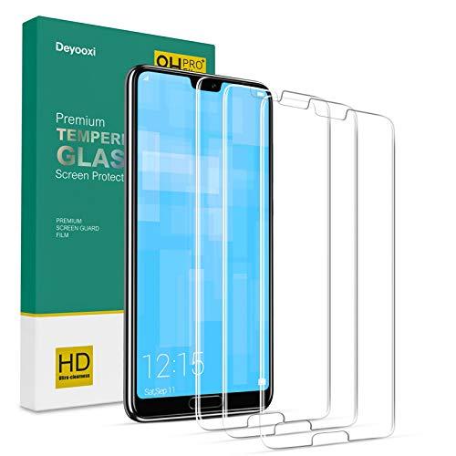 Deyooxi 3 Pièces Verre Trempé pour Huawei P20,Film Protection écran avec Kit Installation Offert pour Huawei P20,Protection Ecran Film Protecteur Vitre,9H Dureté,Sans Bulles,Anti Rayures