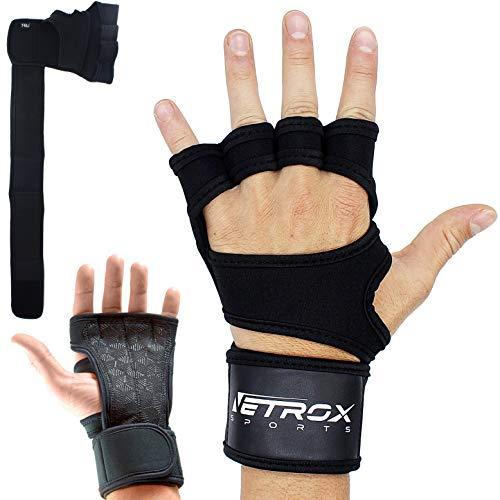 Netrox Crossfit Kraftsport Krafttraining Bodybuilding Fitness Sport Fahrradhandschuhe Fahrrad Handschuhe Gewichtheben Gewichteheben Gewichtheber (Schwarz, L)