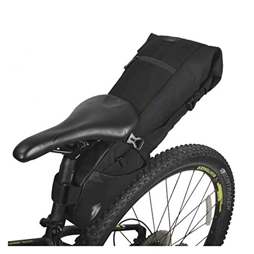 WWZS Crdzsw Tija de sillín de la Bicicleta Bolsa de sillín de Almacenamiento de Bicicletas de montaña Bicicleta de Carretera Bolsa Trasera Impermeable Ampliable 8L 10L Bolsa de Montar de Bicicleta