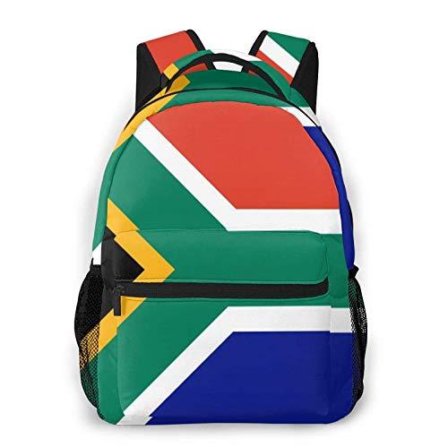 Mochilas para niños, con bandera sudafricana, impermeables, para portátil, mochila de viaje, mochila para niños y niñas