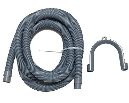 Manguera de desagüe de 19/22 mm para lavadora y lavavajillas (5 m de largo)