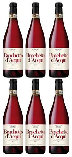 6x 0,75l - 2018er - Braida - Brachetto d'Acqui D.O.C.G. - Piemonte - Italien - Rotwein süß - Dessertwein