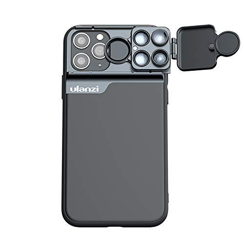 Flycoo2 ULANZI - Funda con Objetivo para iPhone 11/11 Pro / 11 Pro MAX - Macro + Ojo de pez + CPL + teleobjetivo