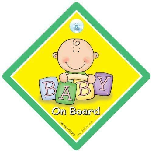 Baby On Board, panneau bébéà bord, vert, briques, bébéà bord, panneau de voiture pour bébé, unisexe, panneau bébéà bord, panneau bébé, Coque, autocollant, autocollant, petit-enfant à bord
