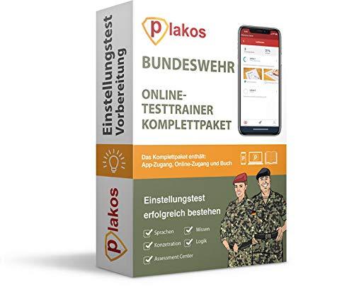 Bundeswehr Einstellungstest Komplettpaket: Online-Testtrainer mit Buch | Eignungstest im Auswahlverfahren erfolgreich bestehen | 2.500 Aufgaben und ... Computertest, Logik, Konzentration, Sprache