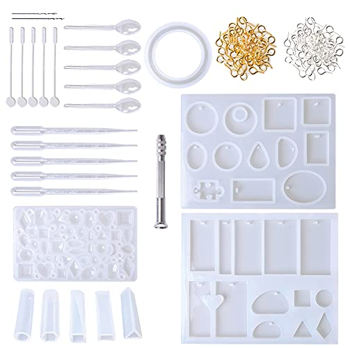 Jewelry Resin Casting Molds, 127 pcs