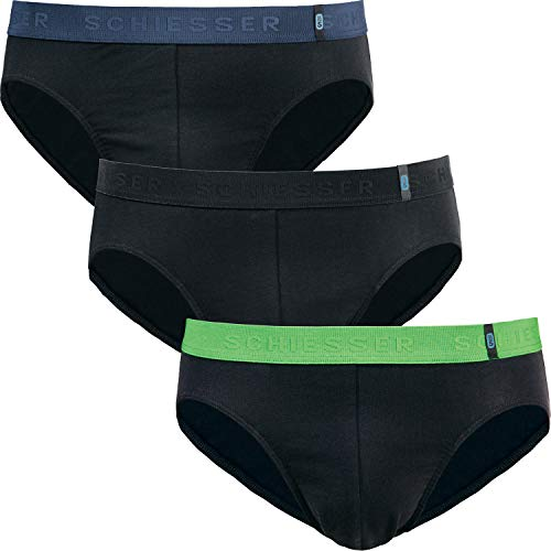 Schiesser 95/5 Herren-Slip 3er-Pack Single-Jersey schwarz Größe 7