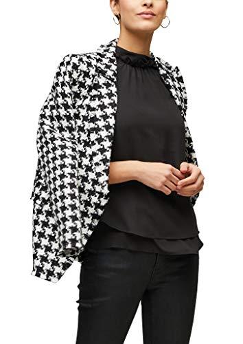 s.Oliver BLACK LABEL Damen Layering-Bluse mit Stehkragen Black 46
