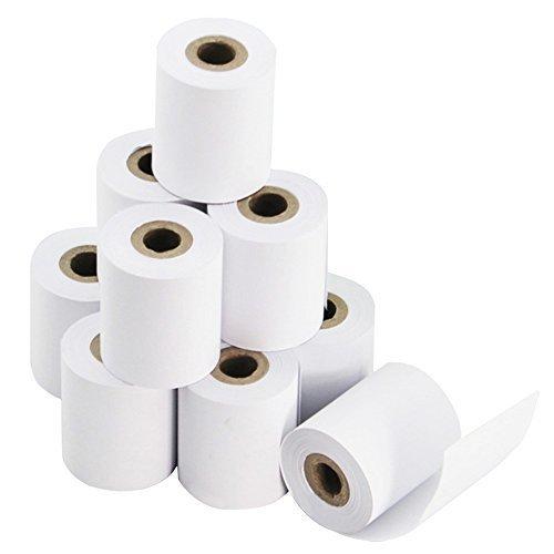 50 rollos 57 mm x 43 mm Premium papel térmico rollo estantes caja registradora recibo