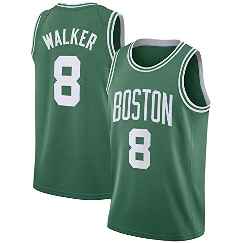 Anoauit NBA Jersey Celtics # 8 Kemba Walker Baloncesto Jersey Bordado Fan Jersey Transpirable y de Secado rápido Uniforme de Baloncesto Unisex Malla Chaleco Deportivo Top-Verde_L