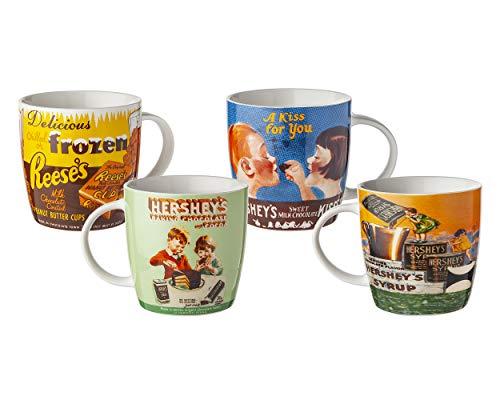 Hershey's Reese's Vintage Coffee and Tea Mugs - 17oz, set of 4