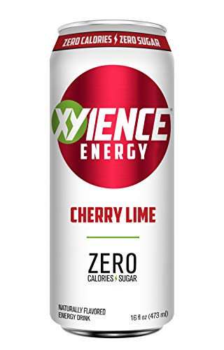 XYIENCE Energy Drink   Cherry Lime   Sugar Free   Zero Calories   Natural Flavors   Vitamin Fortified   16 Ounce (Pack of 12)