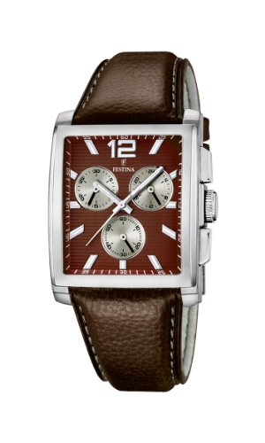 Festina Herren-Armbanduhr XL Analog Quarz Leder F16756/3