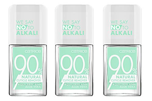 Catrice 90% Natural Cuticle Remover, Nail Care, Nagelpflege, transparent, sofortiges Ergebnis, ohne Aceton, vegan, ohne Alkohol, 3er Pack (3 x 10,5ml)