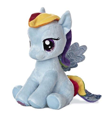 Aurora World My Little Pony Seated Rainbow Dash Pony Plush, 10'