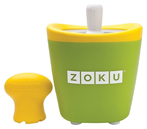 Zoku Single Quick Pop Maker, Make Popsicles in as Little as 7 Minutes, Green