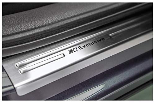 tuning-art 851 Edelstahl Einstiegsleisten Set, Farbe:Silber