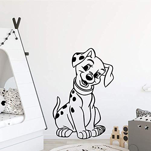 Mooie Spotty Hond Waterdichte Muursticker voor Baby Kamers Decor Slaapkamer Vinyl Behang muurschildering 43x64cm