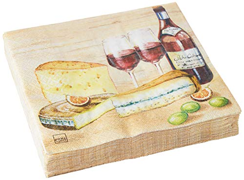 Home Fashion Lunch Servet Smaak van Kaas 33X33 cm, Multi-Color, One Size