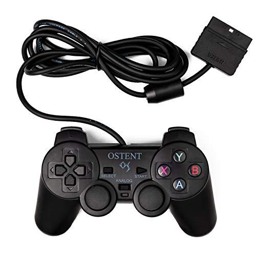OSTENT Verdrahteter Analoger Controller Gamepad Joystick Joypad für Sony Playstation PS2 PS1 PS One PSX Konsole Doppel Schock Erschütterung Videospiele