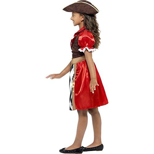 Amakando Kinder Piratenkostüm Piratenkleid Seeräuberkostüm S 4-6 Jahre 110-128 cm Piratinkostüm Kleid Edel Piratin Kostüm Mädchen Kostüme Fasching Piratenbraut Faschingskostüm Piraten Kinderkostüm