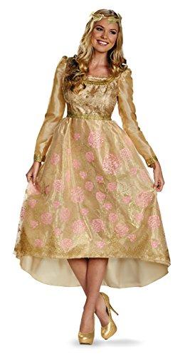 Disguise Women's Disney Maleficent Aurora Coronation Gown Deluxe Costume, Multi, 18-20