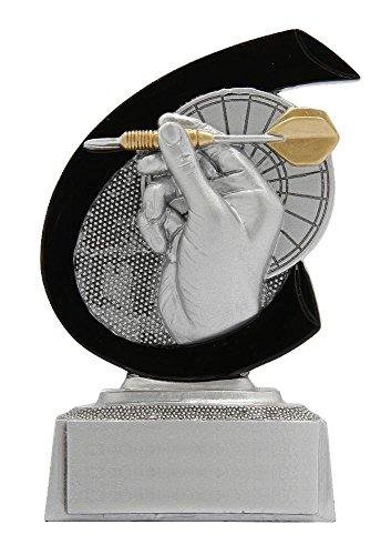 RaRu Dart-Pokal mit Wunschgravur und 3 Dart-Anstecknadeln.