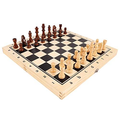LZL Ajedrez Ajedrez de Madera Maciza para niños y Adultos Conjunto de ajedrez de Metal magnético Juego Grande Juego de ajedrez Retro dedicado Juegos de Juego Juego de ajedrez (Color : 15.4)