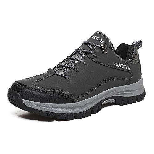 Aerlan Trainer Wanderschuhe,Zapatillas Deportivas Zapatos para Correr,Zapatos Deportivos para Caminar al Aire Libre de Talla Grande.Zapatos de Senderismo para Viajes.Gris_40