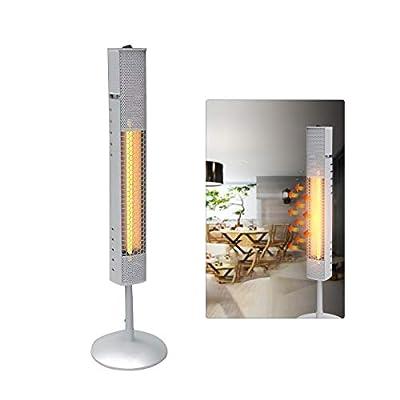 Meihu Free-Standing Outdoor Indoor Patio Heater Electric Terrace Heater for Garden Room Garage IP65 Waterproof
