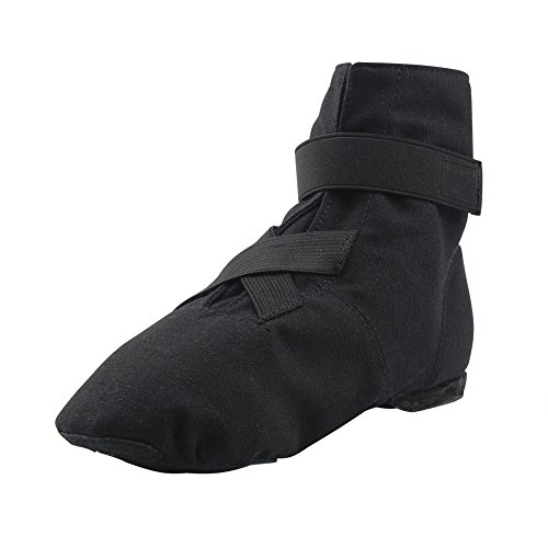 MSMAX Dance Sneakers Canvas Women's Ballroom Jazz Character Ballet Dance Shoe Black 9 M US Women