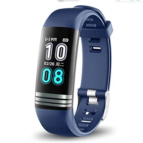 Wsaman Pulsera Actividad Impermeable IP67,Pulsera Deportiva Pulsómetros con Monitor de Sueño para Hombre Mujer Niño, Inteligente Pulseras Actividad,Azul