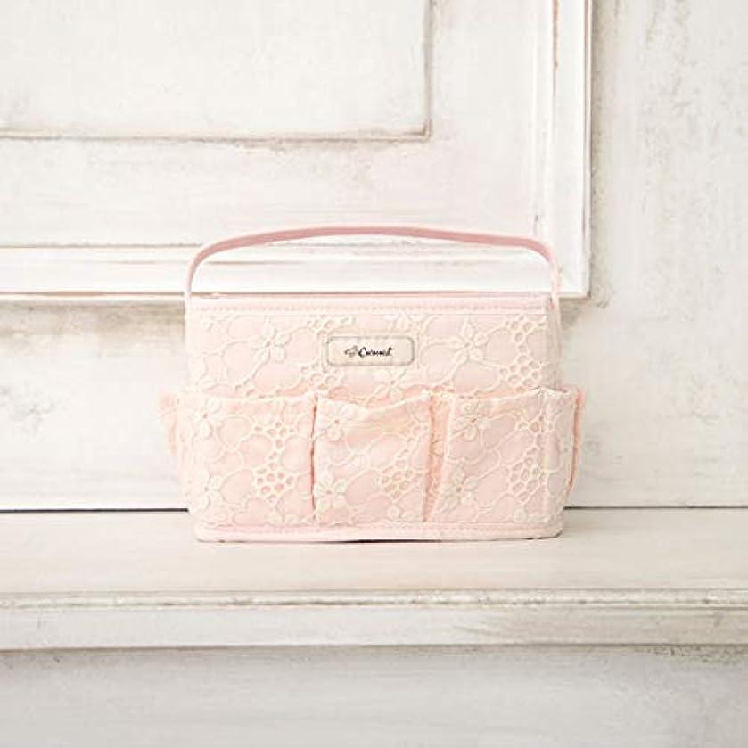 重量増幅器小学生[ コクーニスト ] Cocoonist フラワー柄コスメバスケットS ピンク