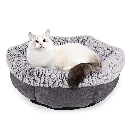 Dihope Cama para perros, gatos, perros, gatos, perros, caseta para perros, cálida, suave, cómoda, fácil de quitar y lavar, para mascotas