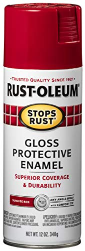 Rust-Oleum 7762830 Stops Rust Spray Paint, 12 Ounce, Gloss Sunrise Red
