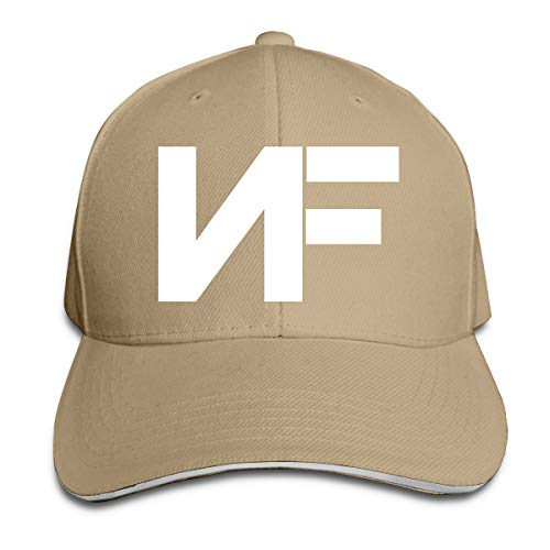 ATRXZ Verstellbar Damen Herren Nf Rapper Logo Graphic Baseball Cap Mütze Baseballcap Hat Snapback Kappe Natural