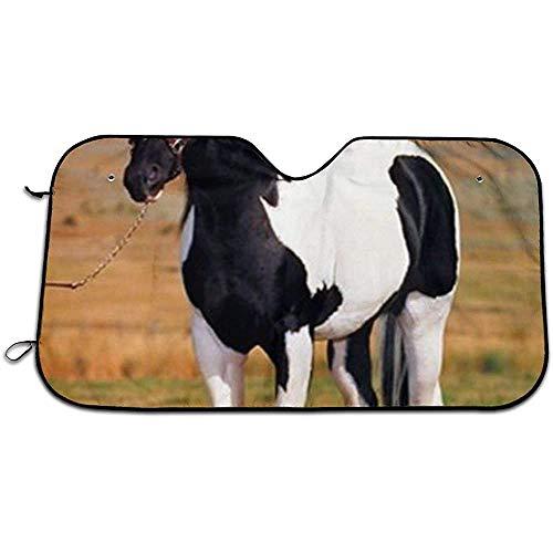 KDU Fashion zonneklep, zonwering, Tobiano Point Stallion Horse Spotter Animal Uvprotect zonwering voor ramen voor auto, vrachtwagen, SUV voor auto 76 x 140 cm
