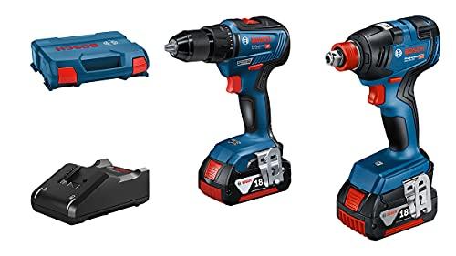 Bosch Professional 06019J2207 GDX 18V-200 + GSR 18V-55, Azul